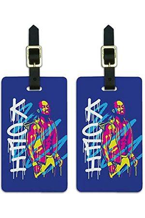 Graphics and More WWE Kofi Kingston Kofi Jazz Gepäckanhänger Koffer Handgepäckkarten – Set von 2