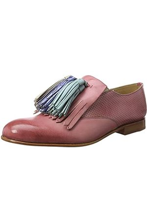 Melvin & Hamilton Damen Sally 57 Slipper, Pink (Venice Perfo/Venice Rose/Rose/Tassel Multi LS-NAT)