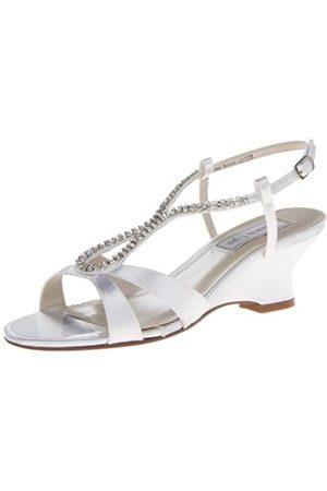 Touch Ups Bernie Damen-Sandalen mit Keilabsatz, Weiá ( - White Satin)