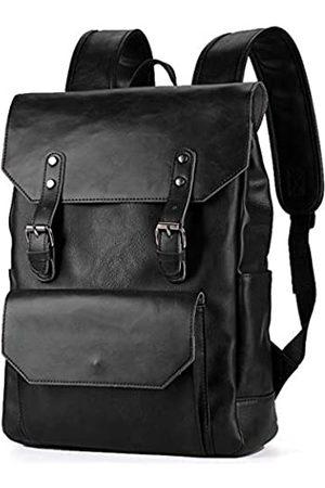 WEECOC Vintage Leder Rucksack Casual Daypack für Herren Damen Laptop Tasche Ranzen Taschen Unisex Schulranzen Klassischer Stil