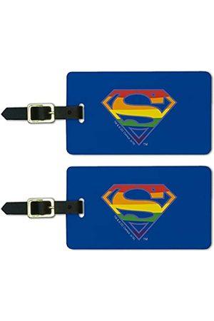 Graphics and More Gepäckanhänger mit Superman-Logo, Regenbogen-Logo