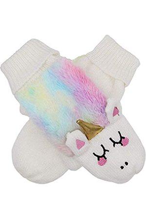 xperry Einhorn-Handschuhe für Damen, Mädchen, Winter, Regenbogenfarben, warmes Futter, kuschelig, gestrickt
