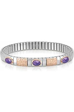 Nomination Damen Armbänder - Damen-Armband Edelstahl teilvergoldet Zirkonia lila 18 cm - 044022/001