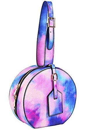 cynllio Lässige Schlangenleder-Schultertaschen, modischer Rucksack, Geldbörse, leichter Reise-Tagesrucksack für Damen, Pink (Farbe: Pink)