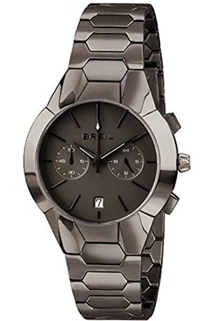 Breil Damenkollektion Armbanduhr New ONE TW1851 - Wasserdichter Damen Chronograph - Edelstahlarmbanduhr - Schwarzes Zifferblatt und Edelstahlarmband