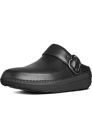 FitFlop Damen Gogh PRO Leather Clogs, (Black)