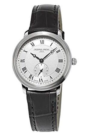 Frederique Constant Damen-Armbanduhr XS Slim Line Analog Quarz Leder FC-235M1S6