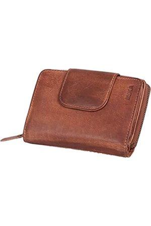 Mika 80112602 - Damengeldbörse aus Echt Leder, Portemonnaie im Hochformat, Geldbeutel mit 9 Visitenkartenfächer, 2 Scheinfächer und doppeltes Münzfach, Brieftasche in, ca. 14