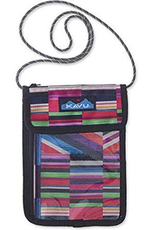 Kavu Keepitclose Neck Wallet Pouch Passport and Travel Holder for Men and Women - Jewel Stripe