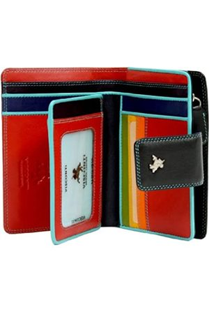Visconti Spektrum RFID Schutz Weiches Leder Schein & Münzbörse in Rot oder