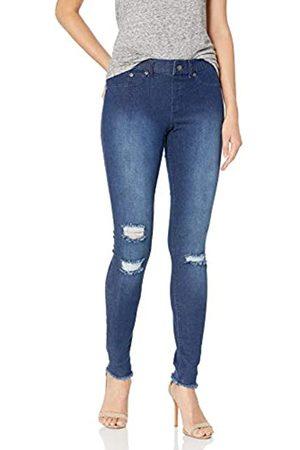 HUE Damen Leggings mit Ripped Knee Denim - - Groß
