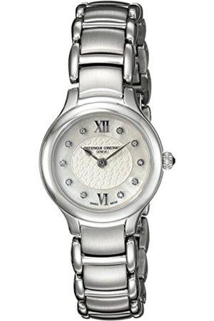 Frederique Constant Damen Analog Quarz Uhr mit Edelstahl Armband FC-200WHD1ER6B
