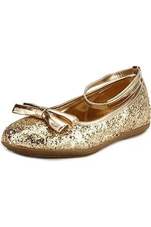 The Doll Maker Metallic Glitter Strap Flat Shoes - FBA1511115A-11