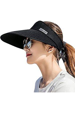 ILNCLUY Sonnenblenden-Hüte für Frauen, große Krempe, UV-Schutz, Sommer, Strandkappe