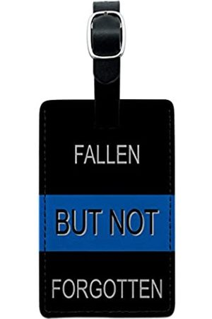 Graphics and More Graphics & More Thin Blue Line Fallen But Not Forgotten-Polizisten - Leather.Tag.RECT.05118_7