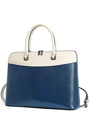 CLUCI Briefcase for Women Oil Wax Leather 15.6 Inch Laptop Business Vintage Slim Ladies Shoulder Bag