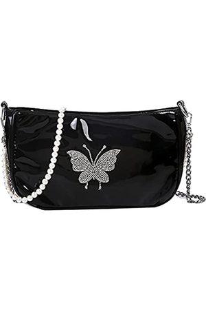 DINGZUO Damen Taschen - Damen Mode Geldbörse Handtaschen Schmetterling Muster Rucksack Schultertasche PU Leder Reisetasche …