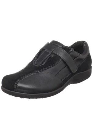 Walking Cradles Damen Connie Sneaker, (Schwarzes Leder/Wildleder)