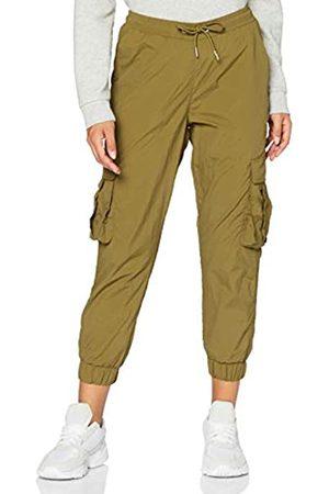 Urban classics Damen Ladies High Waist Crinkle Nylon Cargo Pants Hose