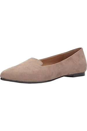 FrenchTrotters Women's Harlowe Pointed Toe Flat, Dark Nude