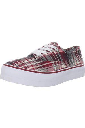 BC Footwear Damen Double Down Plaid Fashion Sneaker, Rot (rotem Karo)