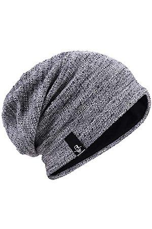 HISSHE Herren Slouch Slouchy Beanie Oversize Sommer Winter Skull Cap N010 - Grau - MEDIUM