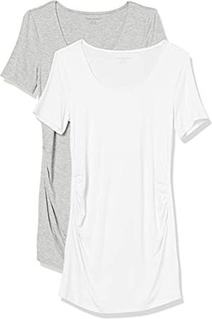 Amazon Maternity 2-Pack Short-Sleeve Rouched Scoopneck T-Shirt