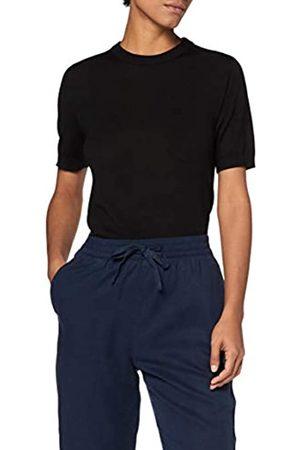 MERAKI Damen Pullover aus Merinowolle mit rundem Ausschnitt, (Black), 44