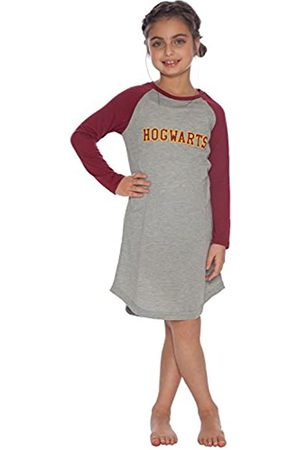 Da Intimo Harry Potter Große Mädchen 'Hermine Granger' Hogwarts Hauswappen 'Uni-Quidditch Raglan Nachthemd