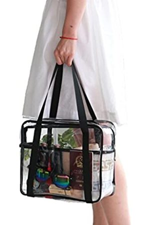 Louise Maelys Transparente Kosmetiktasche für Reisen, groß