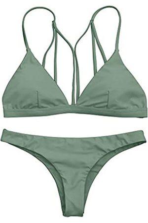 Zaful Damen-Bikini-Set mit Riemchen