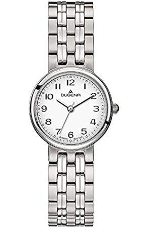DUGENA Damen-Armbanduhr Brenda, Quarz, Edelstahlgehäuse, Mineralglas, Edelstahlarmband, Drückerfaltschließe