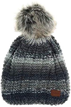 Antonio Damen Winter Strickmütze Fleece gefüttert Kunstfell Pom Pom Beanie Mütze - - Einheitsgröße