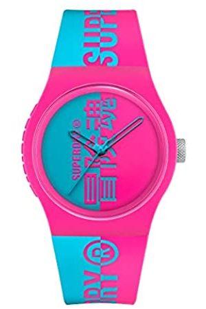 Superdry Herren Analog Quarz Uhr mit Silikon Armband SYG346AUP