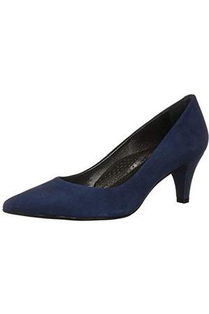 Marc Joseph New York Damen Leder Made in Brazil 2,25 Zoll Heel Point Pump, Blau (Nubukleder Eisblau)