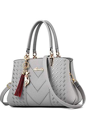 ALARION Damen-Portemonnaies und Handtaschen, Schultertasche für Damen, Designer-Schultasche, Messenger, Tragetasche, (1-light Grey)
