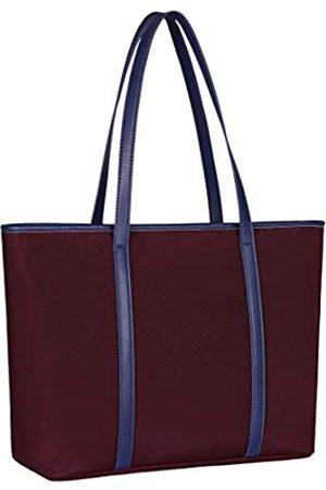 Zugeet Schultertasche für Damen, Nylon, Arbeitstasche für 35,6 cm (14 Zoll) Laptop, (deep purple)