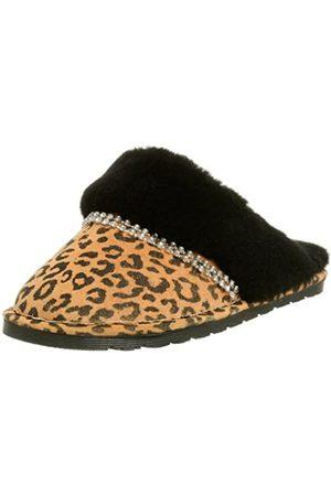 Chooka Damen Strass Schaffell Slipper, Mehrere (Leopard)