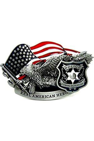 MASOP VOGU MASOP Amerikanische Adlerflagge Western Gürtelschnalle USA Hero Gürtelschnallen für Männer Frauen - mehrfarbig - Durchschnittlich
