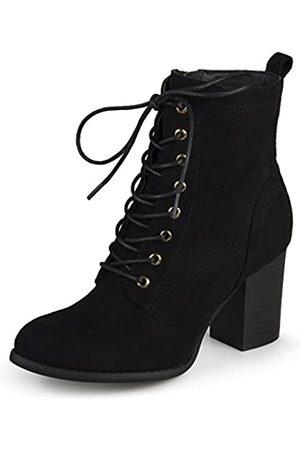 Journee Collection Damen Schnürschuhe mit gestapeltem Absatz