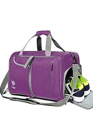 Bago Turnbeutel für Damen und Herren – Klein verstaubare Sporttasche für Damen mit Schuhfach und Nasstasche (40 Liter)