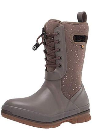 Bogs Damen Crandal Lace Snow Boot Schneestiefel, Speckle Print-Mokka