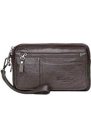 Bag pack Leder-Clutch-Geldbörse für Herren, mit Reißverschluss, Reisepass, Münzen, Telefon, Karten, Organizer, Handgelenktasche, Packung für Geschäftsreisen, Freizeit, Handtasche