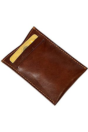 Tony Perotti Women's Italian Bull Leather Spring Tension Money Clip with Credit Card Slot