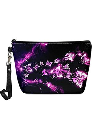 Jiueut Damen Handtaschen - Make-up-Tasche für Damen, mit Reißverschluss, PU-Leder, Kosmetiktasche mit abnehmbarem Riemen