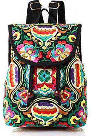 Goodhan Damen Handschuhe - Vintage bestickter Damen Rucksack Ethnische Reise Handtasche Schultertasche