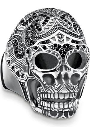 Thomas Sabo Ring Maori Totenkopf schwarz