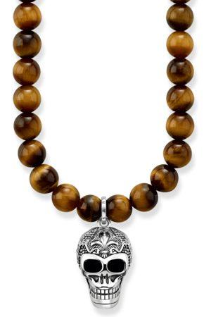 Thomas Sabo Halsketten - Kette Maori Totenkopf braun