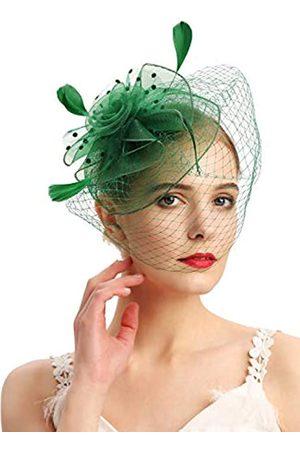 Cizoe Damen Hüte - Fascinator-Hüte, 20er-/50er-Jahre, Hut, Pillendose, Hut, Cocktail, Teeparty, Kopfbedeckung mit Schleier