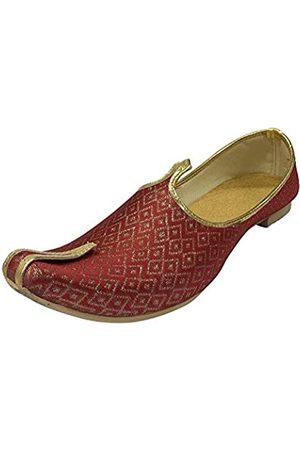 Stop n Style Herren Mehroon Sherwani Jutti Hochzeitsschuhe indische Schuhe Ethnic Schuhe Mojari Schuhe